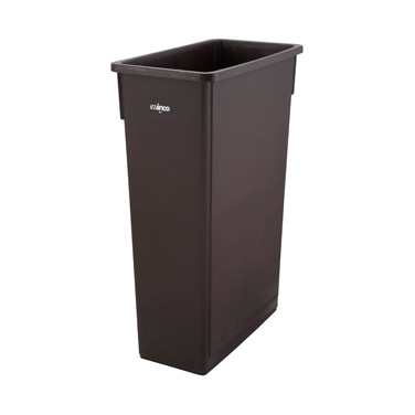 Winco PTC-23B Slender Trash Can, 23 gallon, brown (lid not included)