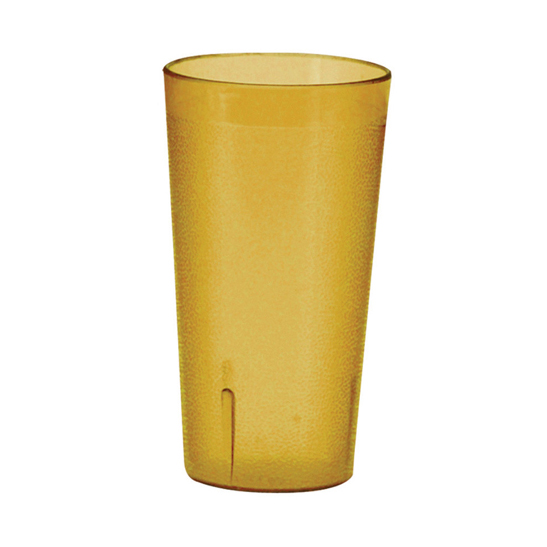 Winco PTP-16A Tumbler, 16 oz., pebbled, break-resistant, dishwasher safe, plastic, amber