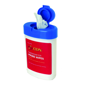 CDN PW90 Thermometer Probe Wipes, 90 count