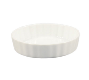 "CAC China QCD-5 Quiche Baking Dish, 5-1/2 oz., 5"" dia. x 1""H, round, fluted, 2dz Per Case"