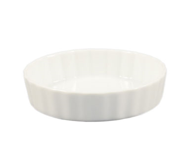 "CAC China QCD-7 Quiche Baking Dish, 18 oz., 7-1/2"" dia. x 1-1/4""H, round, fluted, 2dz Per Case"
