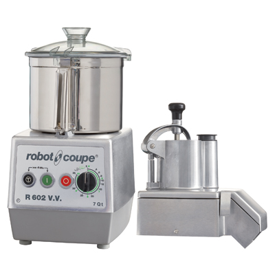 Robot Coupe R602VV Combination Food Processor, 7 Liter Stainless Steel Bowl