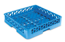 "Carlisle RB14 OptiClean™ Dishwasher Open/Bowl Rack, full size, inside height of 3.25"", open bottom, blue, NSF, Made in USA"