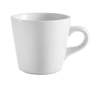 "CAC China RCN-1 Clinton Coffee Cup, 7-1/2 oz., 3-3/4"" dia. x 3""H, round, 3dz Per Case"