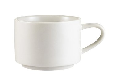 "CAC China RCN-23 Clinton Coffee Cup, 7-1/2 oz., 3-1/4"" dia. x 2-1/4""H, round, 3dz Per Case"