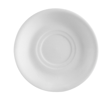 "CAC China RCN-2 Clinton Saucer, 6"" dia. x 1""H, round, rolled edge, 3dz Per Case"