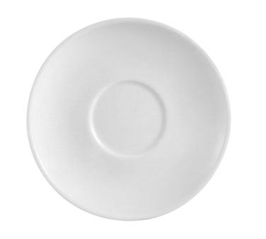 "CAC China RCN-36 Clinton Saucer, 4-1/2"" dia. x 3/4""H, round, rolled edge"