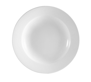 "CAC China RCN-3 Clinton Soup Plate, 10 oz., 8-7/8"" dia. x 1-1/4""H, round, rolled edge, 2dz Per Case"