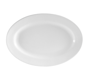 "CAC China RCN-61 Clinton Platter, 16""L x 10-7/8""W x 1-1/2""H, oval, rolled edge, 1dz Per Case"