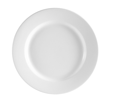 "CAC China RCN-6 Clinton Plate, 6-1/4"" dia. x 1/2""H, round, rolled edge, dishwasher, 3dz Per Case"