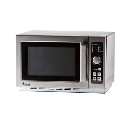 Amana RCS10DSE Commercial Microwave Oven w/ Dial Control, 1000W, 120v
