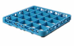 "Carlisle RE2514 OptiClean™ Divided Glass Rack Extender, 25-compartments (3-1/2"" x 3-1/2""), full-size, blue, NSF"