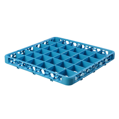 "Carlisle RE3614 OptiClean™ Divided Glass Rack Extender, 36-compartments (2-15/16"" x 2-15/16""), full-size, blue, NSF"