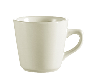 "CAC China REC-1 Coffee Cup, 7 oz., 3-1/2"" dia. x 3""H, round"