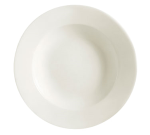 "CAC China REC-3 Soup Plate, 10 oz., 9"" dia. x 2""H, round, rimmed, rolled edge, 2dz Per Case"