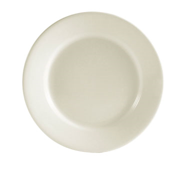 "CAC China REC-8 REC Plate, 9"" dia. x 1""H, round, rolled edge, 2dz Per Case"