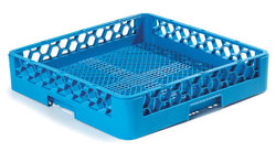 "Carlisle RF14 OptiClean™ Dishwasher Combination/Flatware Rack, full-size, 19-7/8"" x 19-7/8"" x 4"", inside height of 3-1/4"", open bottom, blue, NSF"