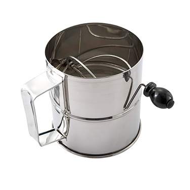 Winco RFS-8 Rotary Sifter, 8 cup, stainless steel
