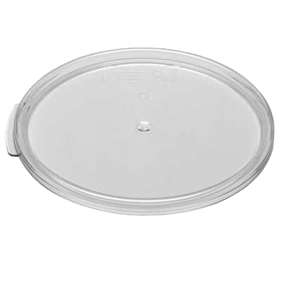 Cambro RFSCWC12135 Camwear Cover, for 12, 18 & 22 qt. round storage container, clear, polycarbonate, NSF
