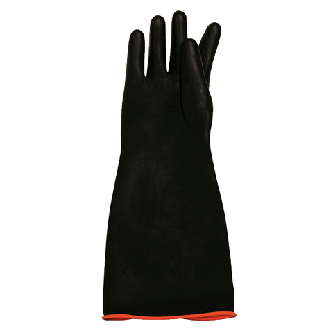 "Crown Brands RG-18HD Update International™ - Rubber Gloves, 18"" elbow length, chemical resistant and liquid proof"