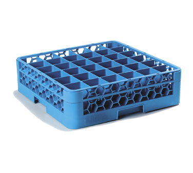 "Carlisle RG36-114 OptiClean™ Dishwasher Glass Rack, 36-compartments (2-15/16"" x 2-15/16"") with (1) extender, full-size, blue, NSF"