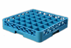 "Carlisle RG3614 OptiClean™ Dishwasher Glass Rack, 36-compartments (2-15/16"" x 2-15/16""), full-size, blue, NSF"
