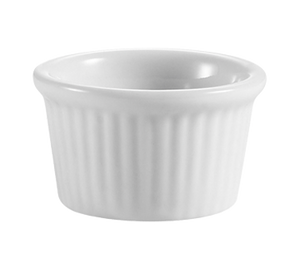 "CAC China RKF-105 RKF Ramekin, 1/2 oz., 1-3/4"" dia. x 1""H, round, fluted, 6dz Per Case"