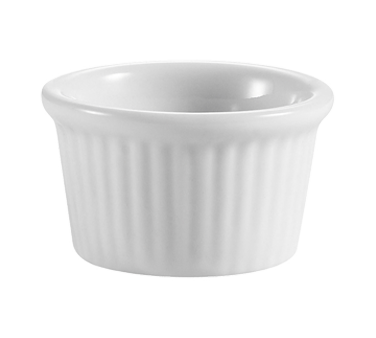 "CAC China RKF-105 Ramekin, 1/2 oz., 1-3/4"" dia. x 1""H, round, fluted, 6dz Per Case"