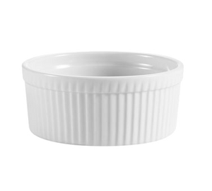 "CAC China RKF-10 RKF Ramekin, 10 oz., 4-1/4"" dia. x 1-3/4""H, round, fluted, 2dz Per Case"