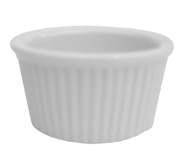 "CAC China RKF-234 Ramekin, 2-3/4 oz., 2-3/4"" dia. x 1-1/2""H, round, fluted, 4dz Per Case"