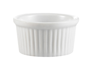 "CAC China RKF-3 RKF Ramekin, 3 oz., 3"" dia. x 1-1/2""H, round, fluted, 4dz Per Case"