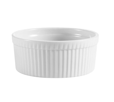 "CAC China RKF-8 Ramekin, 8 oz., 4"" dia. x 1-1/2""H, round, fluted, 3dz Per Case"