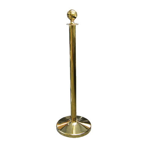 "Crown Brands ROS-41GD Update International™ - Stanchion, 41"" tall, with classic ball top, weighted base, gold with mirror polish finish"