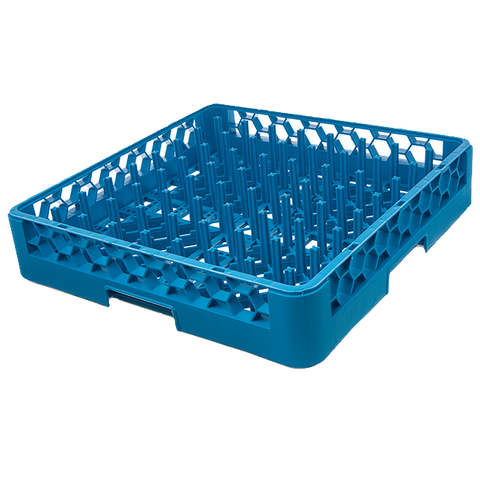 "Carlisle RP14 OptiClean™ All Purpose Plate/Tray Peg Rack, full size, 2-1/4""H standard pegs, polypropylene, blue, NSF"