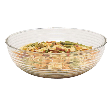 Cambro RSB10CW135 Camwear Bowl, 3.2 qt., 10 dia., round, ribbed, dishwasher safe, polycarbonate, clear, NSF