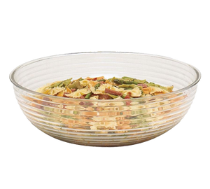 Cambro RSB12CW135 Camwear Bowl, 5.8 qt., 12 dia., round, ribbed, dishwasher safe, polycarbonate, clear, NSF
