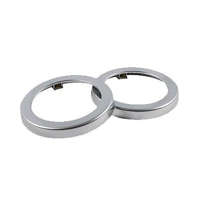 San Jamar C22XC Euro EZ-Fit Rings, For C2210C, Metal Finish