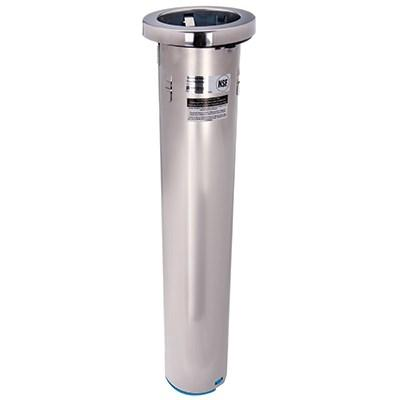 "San Jamar C6400C In-Counter Cup Dispenser, 23-1/2""L Tube, 26-Gauge Stainless Steel, NSF"