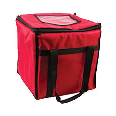 "San Jamar FC1212-RD Food Carrier, 12""W X 12""D X 12""H, Red"