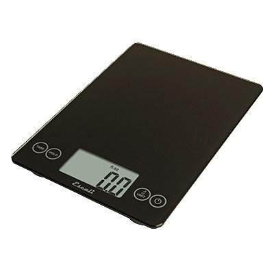 San Jamar SCDG15BK Escali 15 Lb Digital Scale With Glass Platform, Black