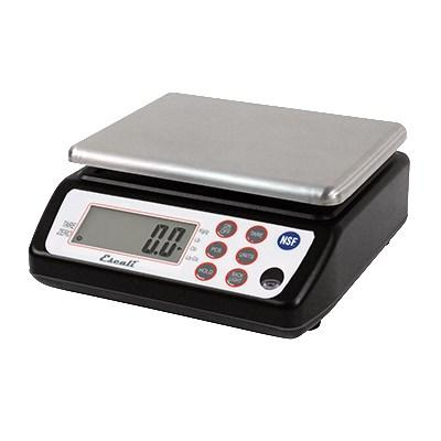 San Jamar SCDG33BK 33 Lb Square Digital Scale, Stainless, NSF