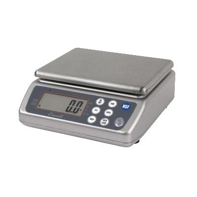 "San Jamar SCDG33WD 33 Lb Rectagular Wash-Down Digital Scale - 8.25"" X 8.5"", Stainless, NSF"