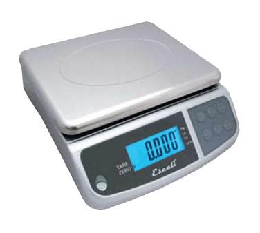 San Jamar SCDGM66 Escali 66 Lb Square Digital Scale With Removable Platform, Stainless Steel, NSF