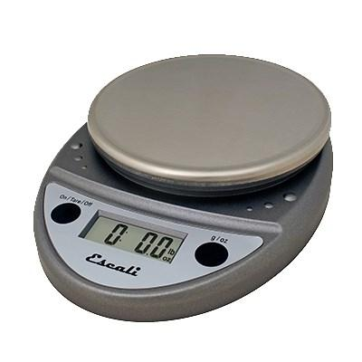 San Jamar SCDGP11M Escali 11 Lb Round Digital Scale With Removable Platform, Metallic, NSF