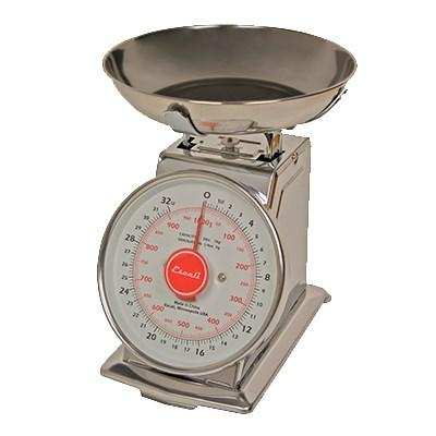 "San Jamar SCDLB2 Escali 2 Lb Dial Scale With Removable Platform, 6"" X 6"", Stainless"