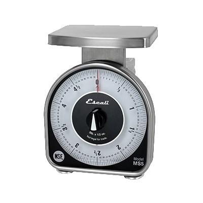 "San Jamar SCMDL5 Escali 5 Lb Mechanical Dial Scale - 4.63"" X 6"", Stainless Steel, NSF"