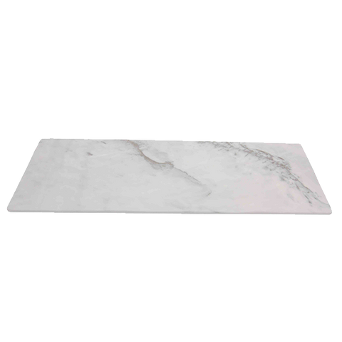 "Thunder Group SB520W White Shadow Melamine Serving Board 20-3/4"" x 6-1/4"""