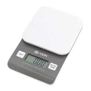 "CDN SD0202 Precision Scale, digital, 4-7/16""W x 7-1/8""D x 1""H,  4-7/16"" square platform, 2.2 lb x 0.01 oz/ 1000 g x 0.2 g capacity"