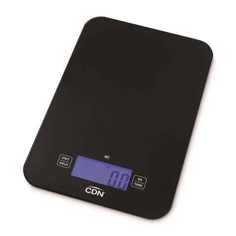 "CDN SD1502-BK Digital Portion Control Scale, 6""W x 9-3/16""D, 15 lb x 0.1 oz/ 7 kg x 1 g capacity"
