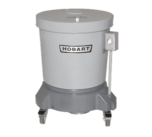 Hobart SDPE-11 Salad Dryer, floor model, 20-gallon capacity, 406 RPM, polyethylene outer tub & lid, polyethylene spin basket with handle grips, 1/4 HP motor, 115v/60/1-ph, 2.5 amps, UL, NSF